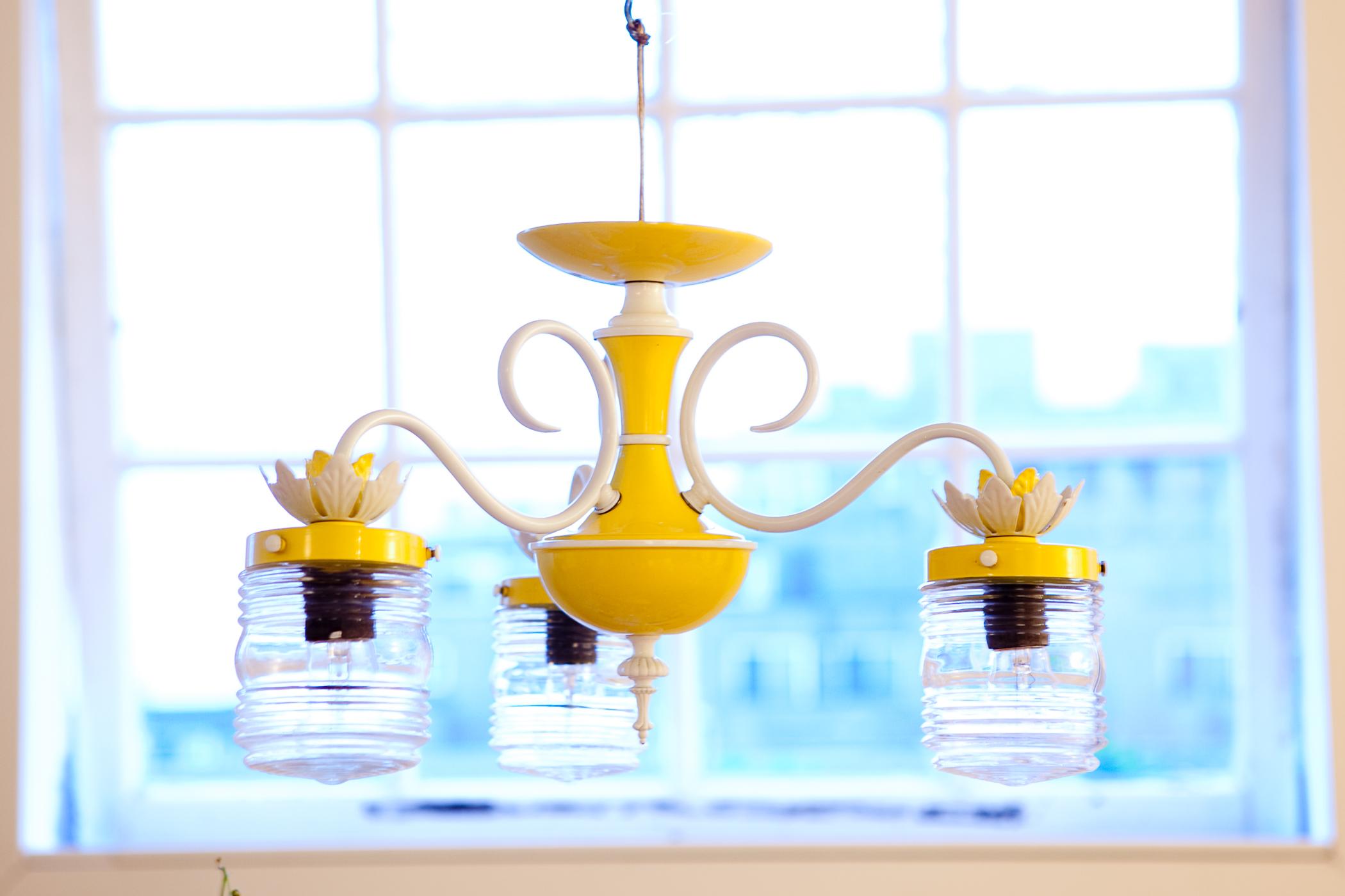 Yellow chandelier craftbnb friday finda yellow chandelier bow tie bustlethe blog aloadofball Gallery