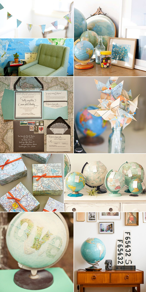 Map travel theme party ideas missions pinterest for Around the world party decoration ideas